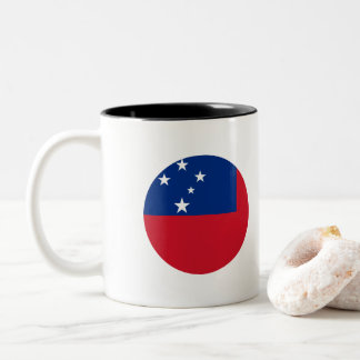 Samoa Flag Two-Tone Coffee Mug