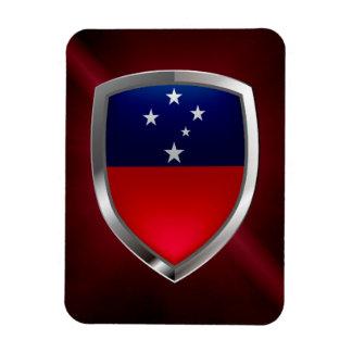 Samoa Metallic Emblem Magnet