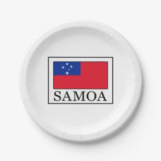 Samoa Paper Plate