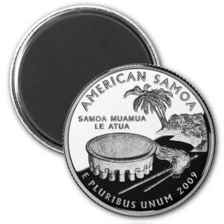 Samoa Quarter Fridge Magnet