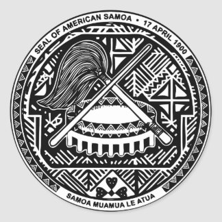 SAMOA ROUND STICKER