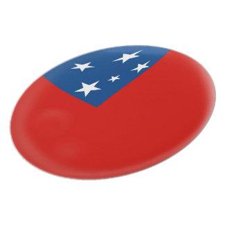 Samoa Samoan Flag Plate