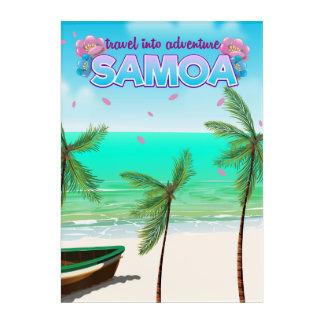 "Samoa ""travel into adventure"" travel poster. acrylic wall art"