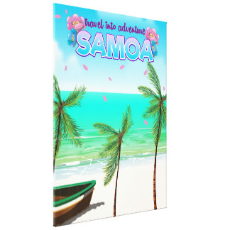"Samoa ""travel into adventure"" travel poster. canvas print"