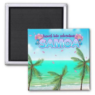 "Samoa ""travel into adventure"" travel poster. magnet"