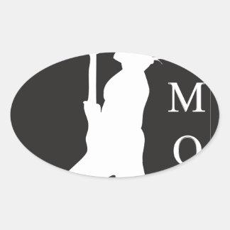 SamoaBlackWhite.ai Oval Sticker
