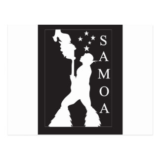 SamoaBlackWhite.ai Postcard