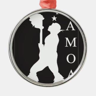 SamoaBlackWhite.ai Silver-Colored Round Ornament