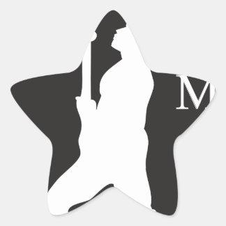 SamoaBlackWhite.ai Star Sticker
