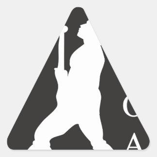 SamoaBlackWhite.ai Triangle Sticker