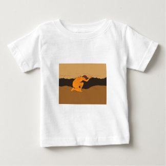 Samoan Atlas Holding Sky from Earth Drawing Baby T-Shirt