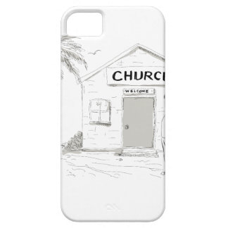 Samoan Boy Stand By Church Cartoon iPhone 5 Cover