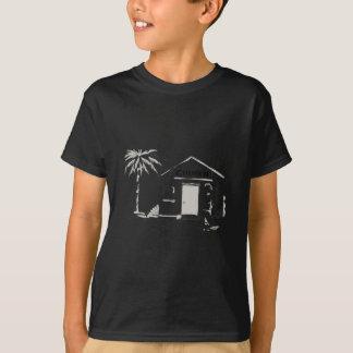 Samoan Boy Stand By Church Cartoon T-Shirt