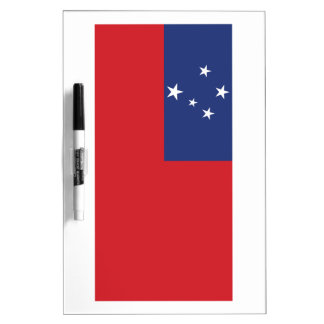 Samoan Flag Dry Erase White Board
