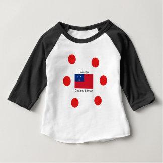 Samoan Language And Samoa Flag Design Baby T-Shirt