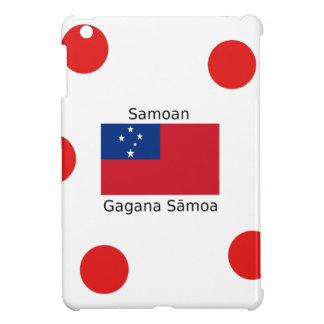 Samoan Language And Samoa Flag Design iPad Mini Cases