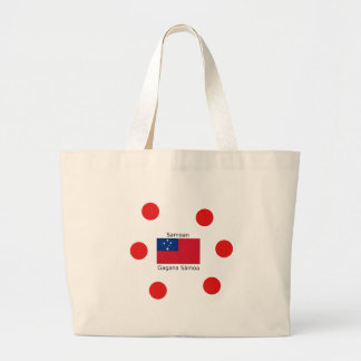 Samoan Language And Samoa Flag Design Large Tote Bag