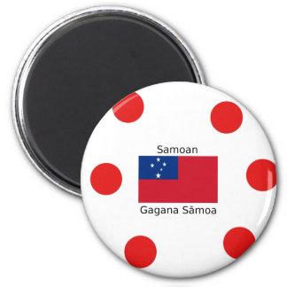 Samoan Language And Samoa Flag Design Magnet