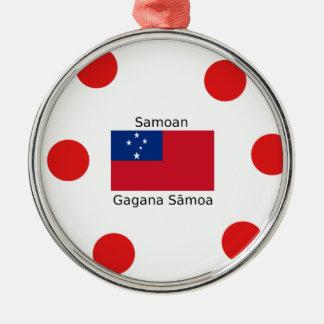 Samoan Language And Samoa Flag Design Metal Ornament
