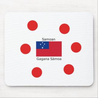 Samoan Language And Samoa Flag Design Mouse Pad