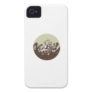 Samoan Losi Club Nifo'oti Weapon Circle Woodcut Case-Mate iPhone 4 Case