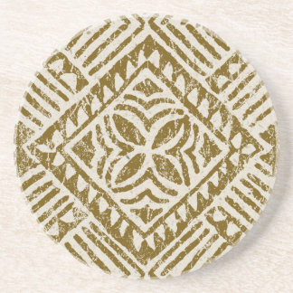 Samoan Tapa Tropical Tiki Bar Coasters