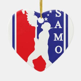 SamoanNBA.ai Ceramic Heart Ornament