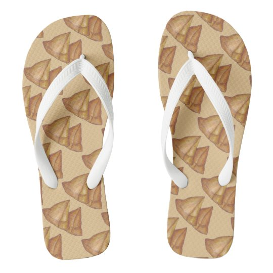 Samosas Indian Food Foodie India Samosa Print Flip Flops