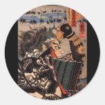 Samouraïs dans la belle armure de dragon, C. 1800' Adhésif