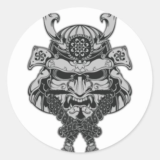 Samouraïs Sticker Rond