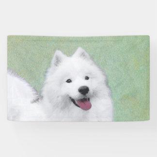 Samoyed 2 Painting - Cute Original Dog Art Banner