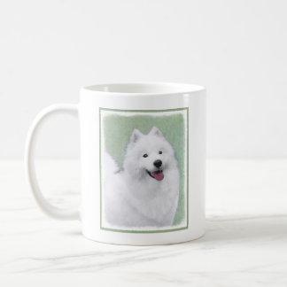 Samoyed 2 Painting - Cute Original Dog Art Coffee Mug