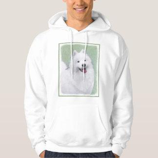 Samoyed 2 Painting - Cute Original Dog Art Hoodie