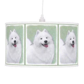 Samoyed 2 Painting - Cute Original Dog Art Pendant Lamp