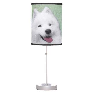 Samoyed 2 Painting - Cute Original Dog Art Table Lamp