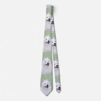 Samoyed 2 Painting - Cute Original Dog Art Tie