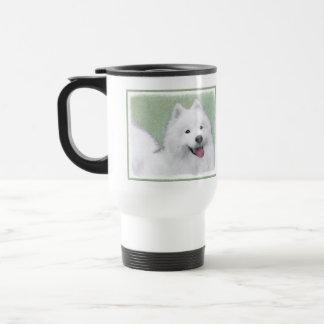 Samoyed 2 Painting - Cute Original Dog Art Travel Mug