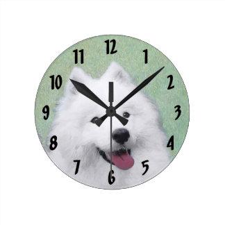 Samoyed 2 round clock
