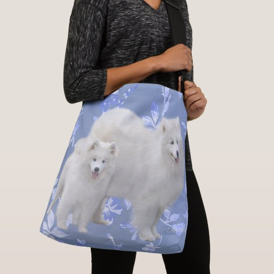 Samoyed All-Over Print Tote - Med & Lrg Cross Body
