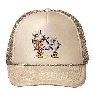 Samoyed American Eskimo Dog Snowflake Trucker Hat