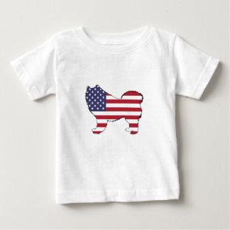 "Samoyed - ""American Flag"" Baby T-Shirt"
