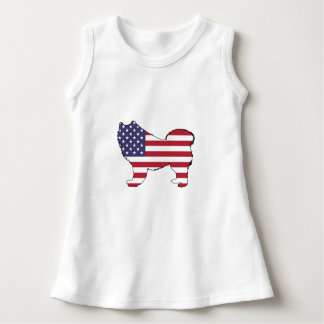 "Samoyed - ""American Flag"" Dress"