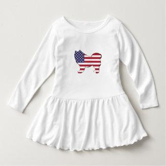 "Samoyed - ""American Flag"" Dress"