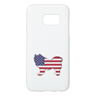 "Samoyed - ""American Flag"" Samsung Galaxy S7 Case"