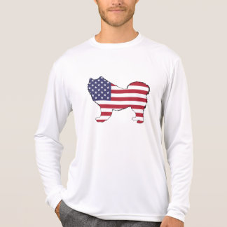 "Samoyed - ""American Flag"" T-Shirt"