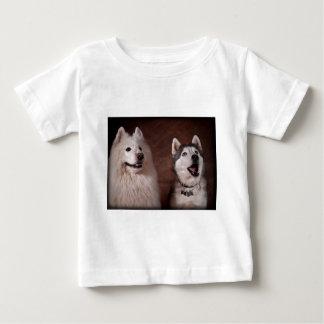 Samoyed and Husky Baby T-Shirt