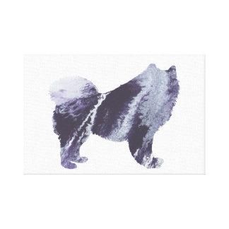 Samoyed art canvas print