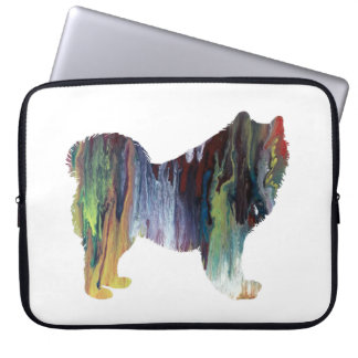 Samoyed art laptop sleeve