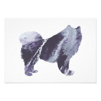 Samoyed art photo print