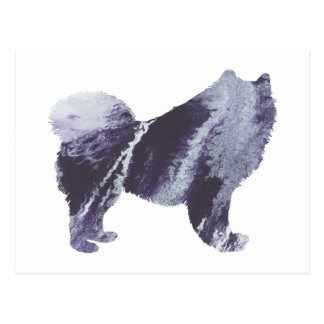 Samoyed art postcard